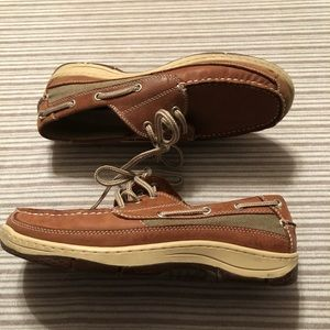 Chaps Men's Leather Boat Shoes